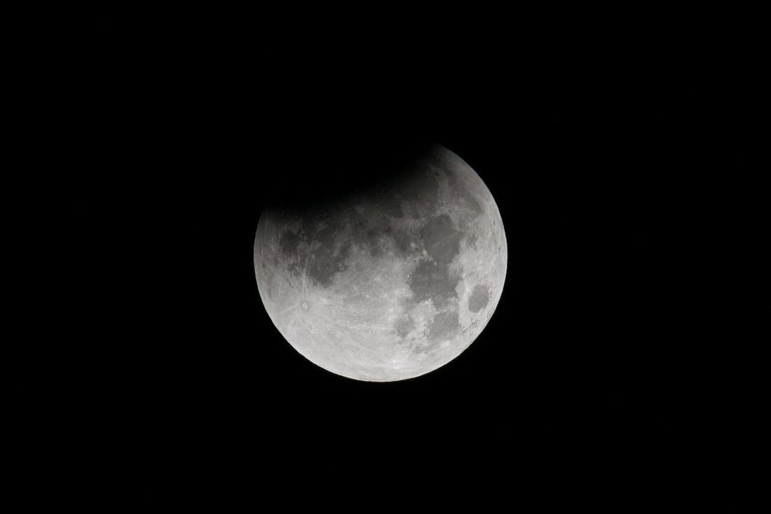 First Quarter Super-Blue-Blood Moon Eclipse