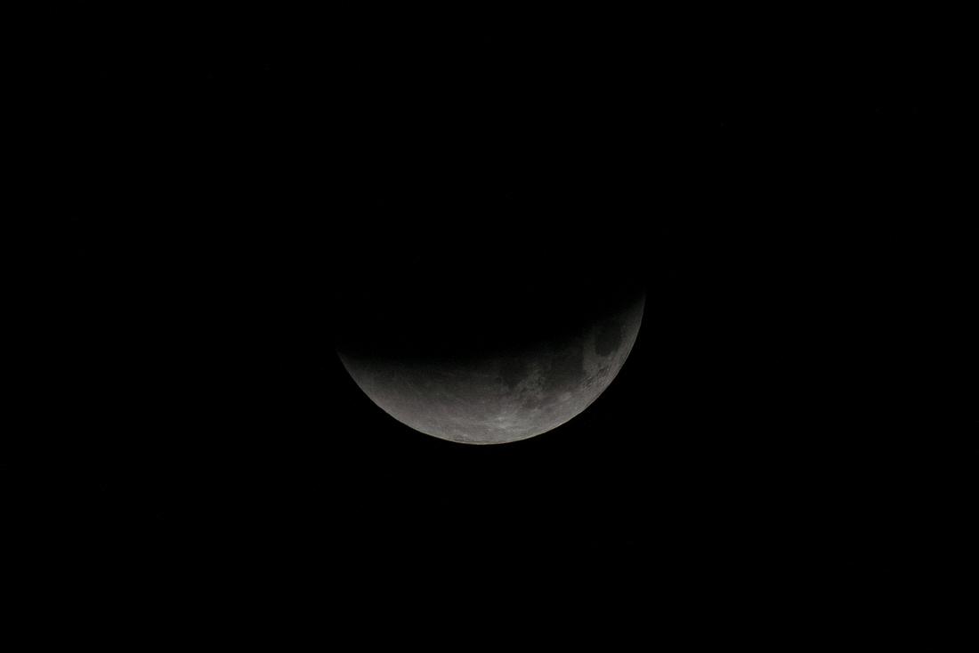Last Quarter Super-Blue-Blood Moon Eclipse