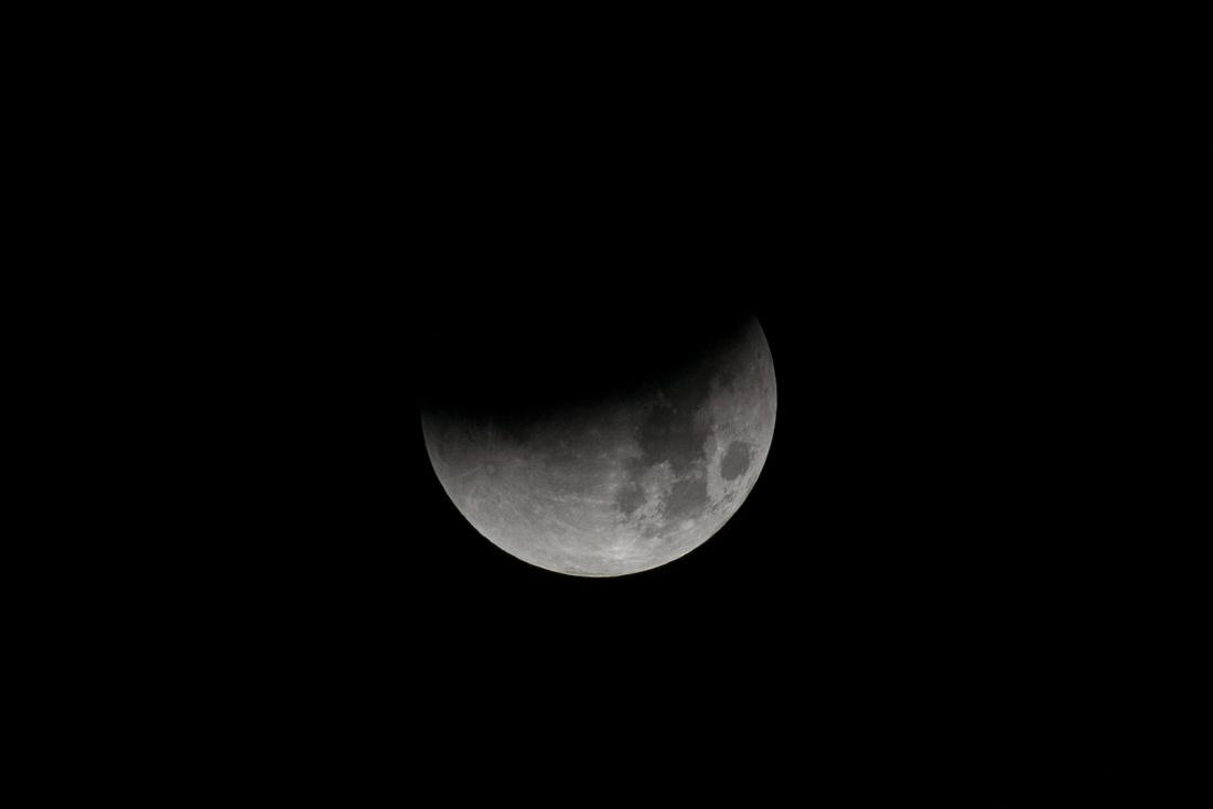 Half Of Super-Blue-Blood Moon Eclipse