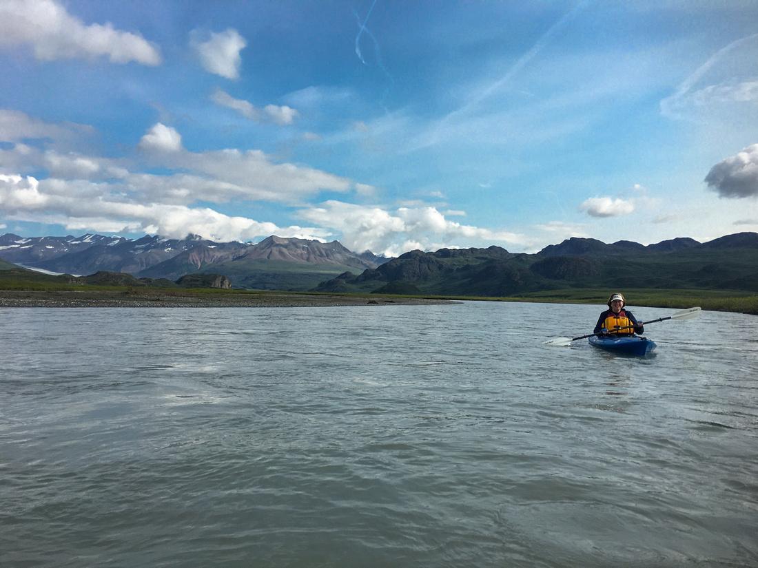 Marie Kayaking The Maclaren River
