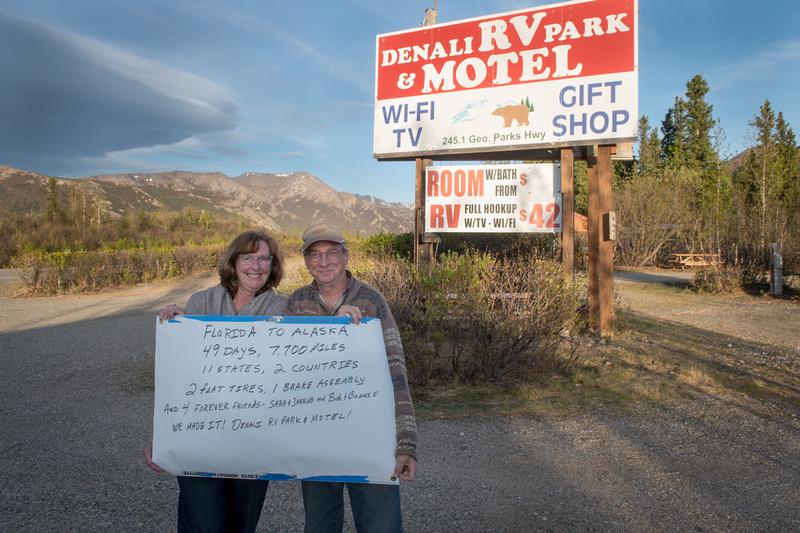 Marie and John Levandoski at Denali RV Park and Motel in Denali, AK