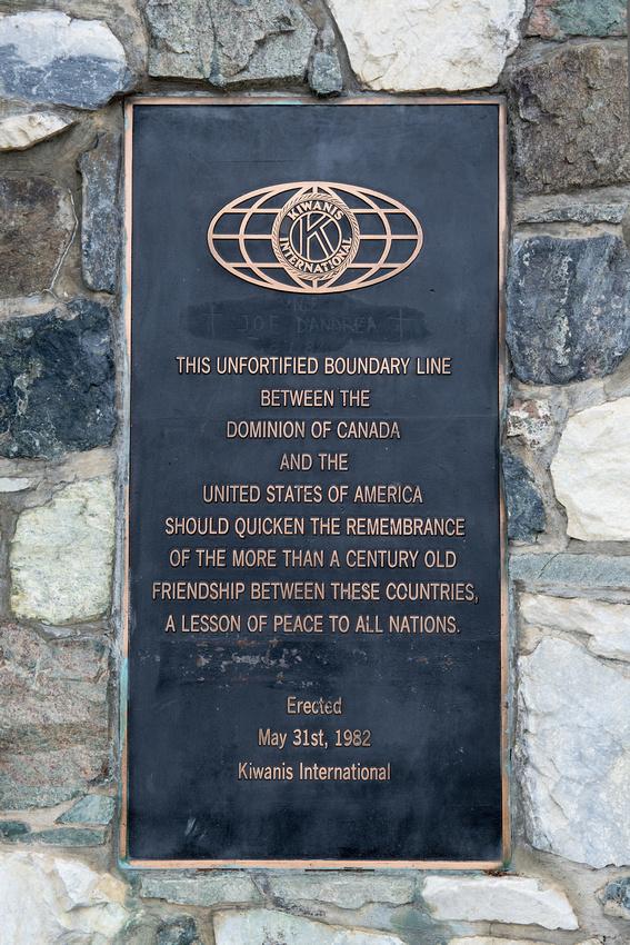 Plaque At The Alaskian  Canadian Border