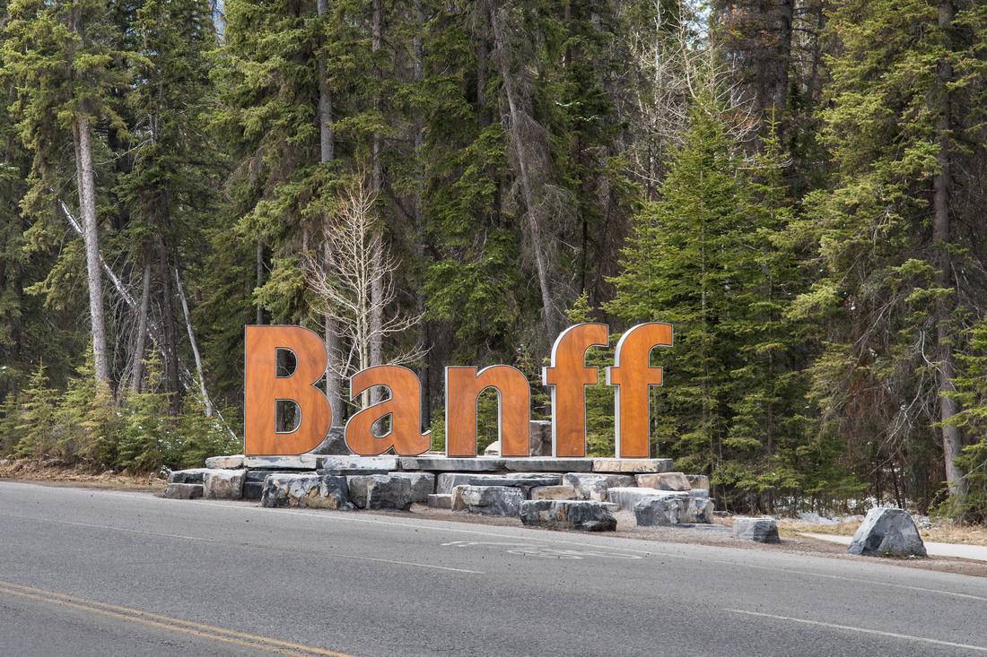 Banff sign, Alberta, Canada
