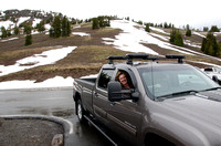 Marie In Truck At Dunraven Pass