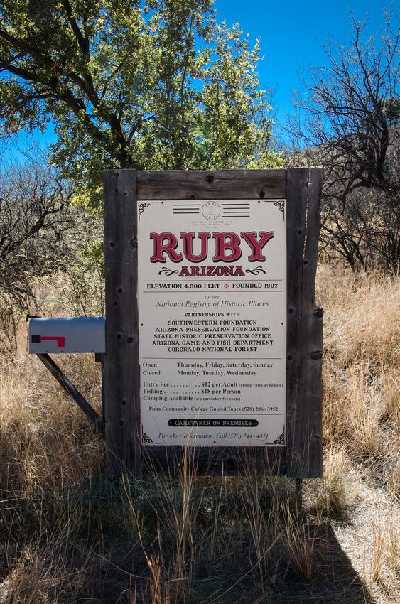 Ruby, AZ Town Sign