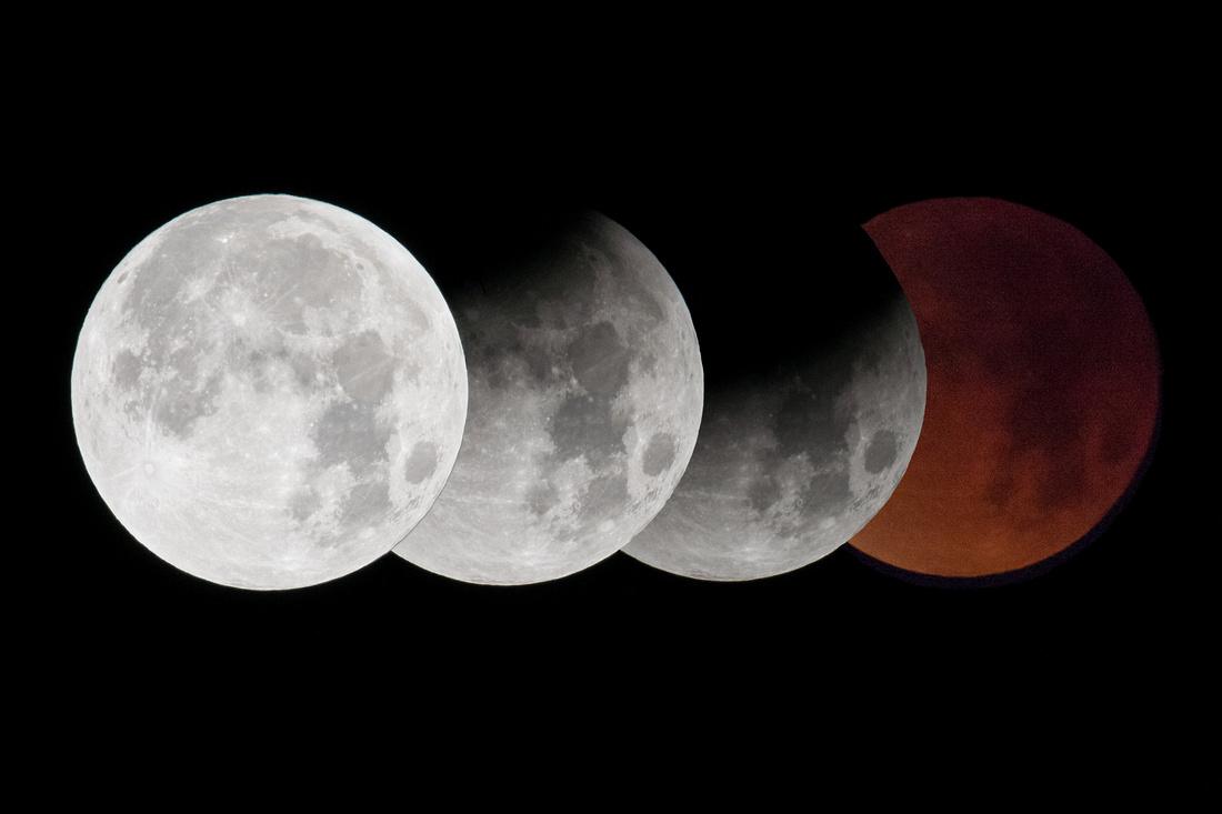 montage super-blue-blood moon eclipse