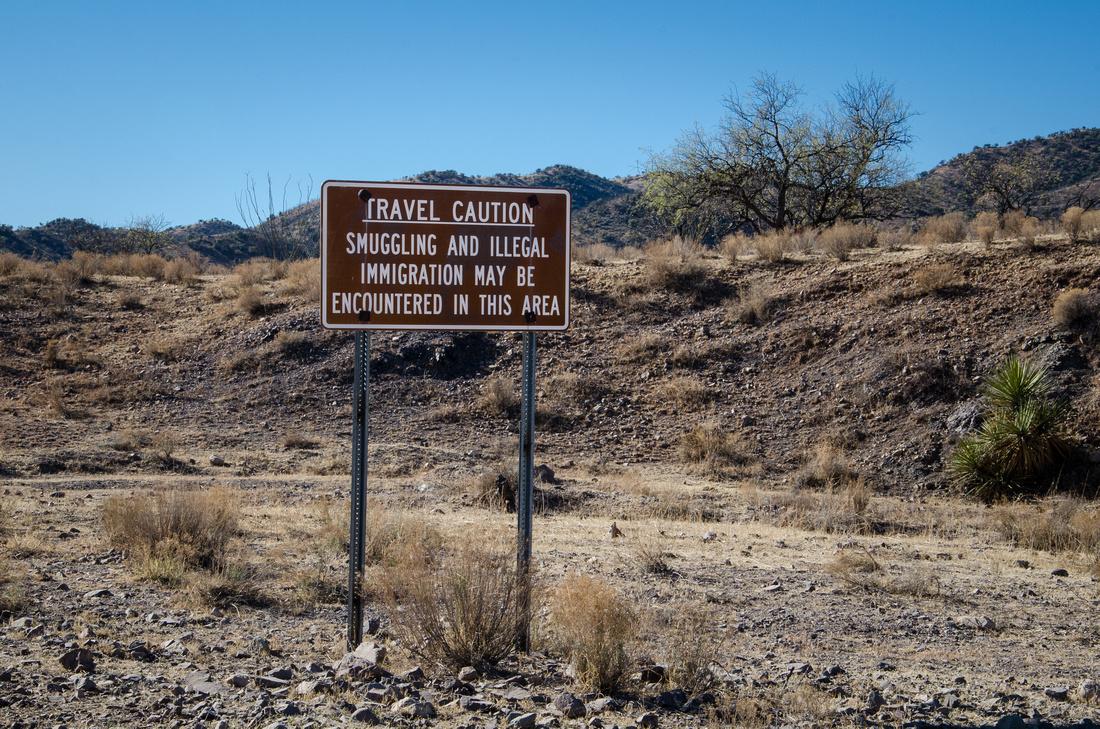 Travel Caution Sign, Ruby, AZ